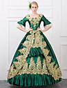 Queen Victoria Gothic Lolita Rokoko Barock Klänningar Dam Flickor Spets Satin Japanska Cosplay-kostymer Vintage Lång längd / Victoriansk