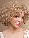 Syntetiska peruker Lockigt Lockigt Peruk Blond Korta Blond Syntetiskt hår Dam Blond