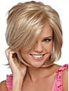 Syntetiska peruker Rak Rak Peruk Blond Korta Blond Syntetiskt hår Dam Sidodel Blond