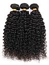 3 paket Brasilianskt hår Kinky Curly Curly Weave Äkta hår Human Hår vävar Hårförlängning av äkta hår Människohår förlängningar / Sexigt Lockigt