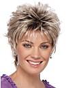 Syntetiska peruker Lockigt Lockigt Pixie-frisyr Peruk Blond Korta Silver Syntetiskt hår Dam Ombre-hår Mörka hårrötter Naturlig hårlinje Blond StrongBeauty