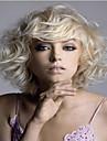 Syntetiska peruker Vågigt Vågigt Peruk Blond Mellan Blond Syntetiskt hår Dam Blond