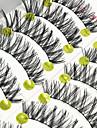 Ögonfrans Lösögonfransar 20 pcs Volym Lockigt Extra lång Fiber Dagligen Hela ögonfransar Korsvis - Smink Vardagsmakeup Kosmetisk Skötselprodukter