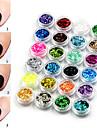 24 pcs Nail Art Kit Nagelsmycken Paljetter Vackert nagel konst manikyr Pedikyr Dagligen Mode / Plast / Nail Smycken