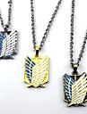 Smycken Inspirerad av Attack on Titan Cosplay Animé Cosplay-tillbehör Dekorativa Halsband Legering Herr Varm Halloween kostymer