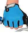 FJQXZ Vinter Cykelhandskar Bergscykling Andningsfunktion Anti-halk Svettavvisande Skyddande Fingerlösa Halvt finger Aktivitet/Sport Handskar Nät Terry Cloth Svart Röd Blå för Vuxna Utomhus