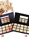 15 färger Puder Pressat puder 1 pcs Torr Dækning / Concealer / Naturlig Ansikte Smink Kosmetisk