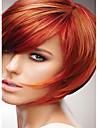 Syntetiska peruker Rak Rak Peruk Korta Röd Syntetiskt hår Röd