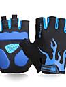 FJQXZ Winter Bike Gloves / Cycling Gloves Mountain Bike Gloves Mountain Bike MTB Road Bike Cycling Breathable Padded Anti-Slip Wearproof Fingerless Gloves Half Finger Sports Gloves Lycra Mesh