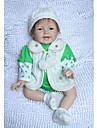 NPK DOLL Reborn-dockor Spädbarn 22 tum Silikon Vinyl - Nyfödd levande Söt Handgjord Barnsäkert Ogiftig Unge Flickor Leksaker Present / Vackert / CE / Naturlig hudton / Floppy Head