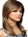 Syntetiska peruker Rak Rak Med lugg Peruk Blond Mellan Blond Syntetiskt hår Dam Blond