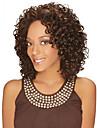 Syntetiska peruker Lockigt Lockigt Middle Part Peruk Mellan Brun Syntetiskt hår Dam Värmetåligt Mode Afro-amerikansk peruk Brun