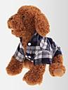 Katt Hund T-shirt Hundkläder Grön Röd Blå Kostym Cotton Pläd / Rutig Klassisk Ledigt / vardag XS S M L