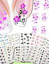 50 pcs 3D Nagelstickers Vattenöverföringsklistermärke nagel konst manikyr Pedikyr Abstrakt / Mode Dagligen / 3D Nail Stickers