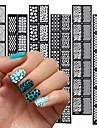 12 pcs Stämpelplatta Mall Moderiktig design nagel konst manikyr Pedikyr Stilig / Mode Dagligen / stämpling Plate