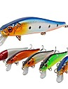 5 pcs Fiskbete Hårt bete Spigg Sjunker Bass Forell Gädda Sjöfiske Flugfiske Kastfiske Hårt Plast Kolstål / Spinnfiske / Jiggfiske / Färskvatten Fiske / Abborr-fiske / Drag-fiske