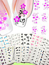 50PCS 3D Nagelstickers Nagelsmycken nagel konst manikyr Pedikyr Punk / Mode Dagligen / pvc / Nail Smycken / 3D Nail Stickers