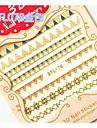 6 pcs 3D Nagelstickers nagel konst manikyr Pedikyr Abstrakt / Punk / Mode Dagligen / 3D Nail Stickers