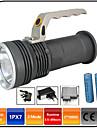 LED-Ficklampor Vattentät Uppladdningsbar 1000 lm LED - utsläpps 3 Belysning läge med batterier och laddare Vattentät Zoombar Uppladdningsbar Stöttålig Camping / Vandring / Grottkrypning