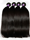 3 paket Peruanskt hår Rak Human Hår vävar Hårförlängning av äkta hår Människohår förlängningar