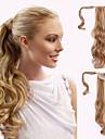 Tejpa-in Hästsvans Syntetiskt hår Hårstycke HÅRFÖRLÄNGNING Vågigt