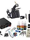 BaseKey Tattoo Machine Startkit - 1 pcs Tatueringsmaskiner med 1 x 20 ml / 4 x 5 ml tatueringsfärger, Professionell Mini strömförsörjning No case 19 W 1 x stål tatueringsmaskin för linjer och