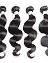 Brasilianskt hår Kroppsvågor Hårförlängning av äkta hår 4 delar 0.2