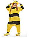 Vuxna Kigurumi-pyjamas Bi Djurmönstrad Onesie-pyjamas Polär Ull Gul Cosplay För Herr och Dam Pyjamas med djur Tecknad serie Festival / högtid Kostymer