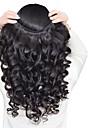 3 paket Peruanskt hår Löst vågigt Human Hår vävar Hårförlängning av äkta hår Människohår förlängningar / 8A