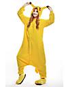 Vuxna Kigurumi-pyjamas pika pika Djurmönstrad Onesie-pyjamas Polär Ull Gul Cosplay För Herr och Dam Pyjamas med djur Tecknad serie Festival / högtid Kostymer