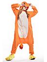 Vuxna Kigurumi-pyjamas drake Djurmönstrad Onesie-pyjamas Polär Ull Orange Cosplay För Herr och Dam Pyjamas med djur Tecknad serie Festival / högtid Kostymer