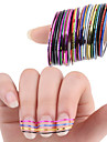 30 pcs Nail Foil Striping Tape nagel konst manikyr Pedikyr Punk / Mode Dagligen / Foliebandspapp