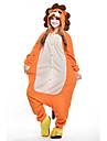 Vuxna Kigurumi-pyjamas Lejon Djurmönstrad Onesie-pyjamas Polär Ull Orange Cosplay För Herr och Dam Pyjamas med djur Tecknad serie Festival / högtid Kostymer