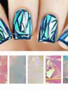 5 pcs Nail Foil Striping Tape nagel konst manikyr Pedikyr Abstrakt / Mode Dagligen / pvc / Foliebandspapp