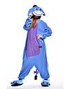 Vuxna Kigurumi-pyjamas Åsna Djurmönstrad Onesie-pyjamas Polär Ull Blå Cosplay För Herr och Dam Pyjamas med djur Tecknad serie Festival / högtid Kostymer