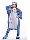 Vuxna Kigurumi-pyjamas Uggla Djurmönstrad Onesie-pyjamas Polär Ull Blå Cosplay För Herr och Dam Pyjamas med djur Tecknad serie Festival / högtid Kostymer
