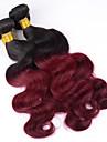3 paket Brasilianskt hår Kroppsvågor Klassisk Obehandlad hår Nyans 12-26 tum Nyans Hårförlängning av äkta hår Heta Försäljning Människohår förlängningar / 10A