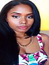 Äkta hår Hel-spets Spetsfront Peruk Rak 130% Densitet 100 % handbundet Afro-amerikansk peruk Naturlig hårlinje Korta Mellan Lång Dam Äkta