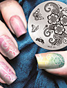 1 pcs Stämpelplatta Mall Moderiktig design nagel konst manikyr Pedikyr Stilig / Mode Dagligen / stämpling Plate / Metall