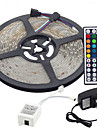 5m Flexible LED Light Strips / Light Sets / RGB Strip Lights LEDs 3528 SMD 8mm RGB Remote Control / RC / Cuttable / Dimmable 100-240 V / Linkable / Self-adhesive / Color-Changing / IP44