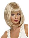 Syntetiska peruker Rak Rak Bob-frisyr Med lugg Peruk Blond Korta Blond Syntetiskt hår Dam Värmetåligt Sidodel Blond