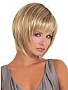 Syntetiska peruker Rak Bob-frisyr Med lugg Peruk Blond Blond Syntetiskt hår Dam Blond