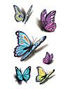 1 pcs tillfälliga tatueringar Vattentät Ansikte / händer / skuldra pvc Tatueringsklistermärken