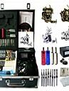 BaseKey Professionell Tattoo Kit Tattoo Machine - 4 pcs Tatueringsmaskiner Analog strömförsörjning 2 x stål tatueringsmaskin för linjer och skuggning / 2 x legering tatuering maskin för lining och