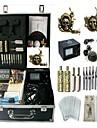 BaseKey Professionell Tattoo Kit Tattoo Machine - 2 pcs Tatueringsmaskiner Analog strömförsörjning 2 x legering tatuering maskin för lining och skuggning / Fodral inkluderat