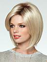 Syntetiska peruker Rak Stil Bob-frisyr Utan lock Peruk Blond Blond Syntetiskt hår Dam Blond Peruk