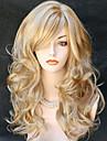 Syntetiska peruker Vågigt Vågigt Peruk Blond Lång Blond Syntetiskt hår Dam Blond StrongBeauty