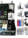 BaseKey Professionell Tattoo Kit Tattoo Machine - 3 pcs Tatueringsmaskiner LCD strömförsörjning 3 x stål tatueringsmaskin för linjer och skuggning / Fodral inkluderat