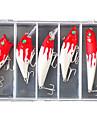 5 pcs Fiskbete Hårt bete Spigg Veva Blyertspenna Popper Vibration Lock förpackningar Bass Forell Gädda Sjöfiske Färskvatten Fiske Hårt Plast
