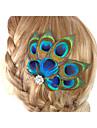 2016 nya fascinator hår tillbehör klämma i fjäder tillbehör handgjorda